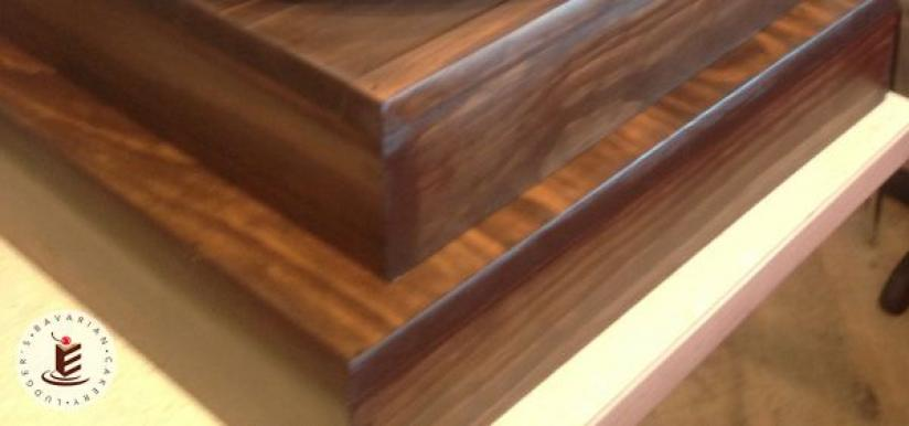 """18"""" and 22"""" Dark Wood Square Stands"""