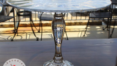 "12"" Tall Glass Pedestal"